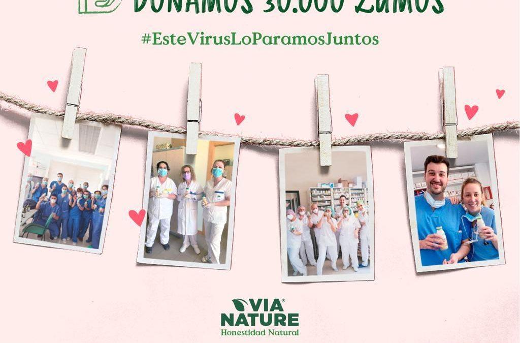 Via Nature sigue apoyando en la lucha contra el coronavirus con nuevas donaciones de productos