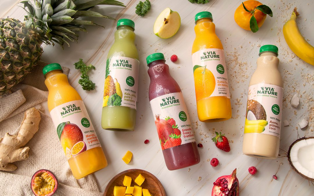 Los zumos Via Nature, ahora más frescos y naturales