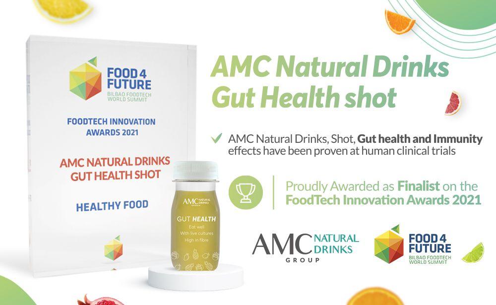 AMC Natural Drinks premiado en la prestigiosa feria Food 4 Future por su shot de salud digestiva e inmunidad